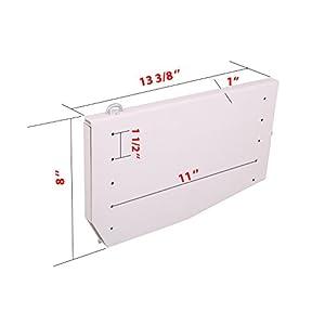 ECLV DIY Murphy Wall Bed Springs Mechanism Hardware Kit ,Vertical Wallbed Mounting,King size,White