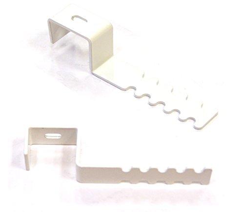 Robert Winkelsträter GmbH & Co. KG Dekohaken-Set (2 Stück) mit Abstandhalter für Fensterrahmen 19-22 mm, weiß