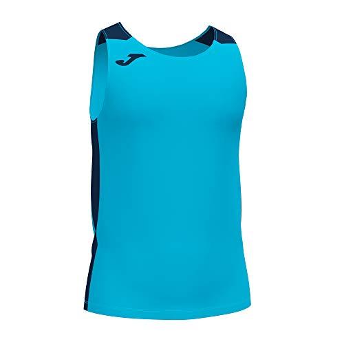 Joma Camiseta Tirantes Record II Turquesa flúor Marino