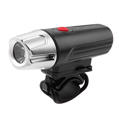 SHIZIZUO Faros de bicicleta, luz delantera de la bicicleta, USB recargable LED bicicleta brillante aleación de aluminio 4 modos delantero faros-214638
