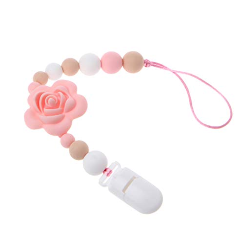WT-DDJJK Pacifier Chain,Clip Pacifier, Soother Clip For Personalized Silicone Material Boy Girl
