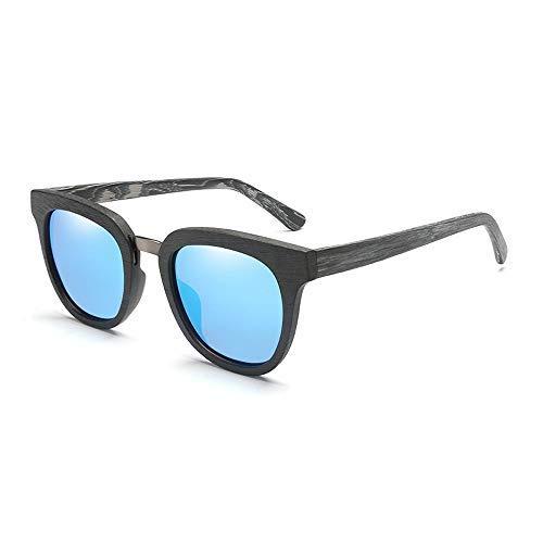 Yeeseu Gafas de sol de moda Marco colorido hombres polarizaron las gafas de sol Plaza clásico de bambú gafas de sol gafas de moda (color: amarillo, tamaño: Libre) Ciclismo, Correr, Pesca, Pesca, Sende