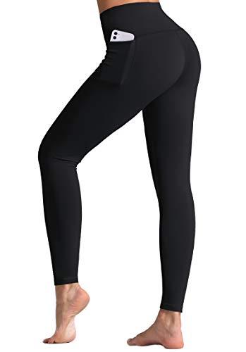 Wjustforu Leggings for Women, High Waisted Leggings for Women, Workout with Pockets Yoga Pants, Tummy Control Leggings (Small, Black)