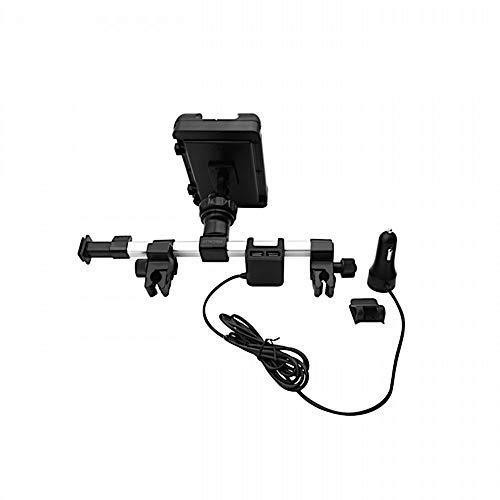 """Macally HRMOUNTPRO4UAC, Kopfstützen Autohalterung mit USB Ladegerät für alle iPad & Tablet PCs bis 25 cm Breite, kompatibel zu 12,9\"""" iPad Pro"""
