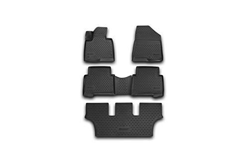 Element EXP.NLC.3D.20.57.210 Passgenaue Premium Antirutsch Gummi Fußmatten - Hyundai Grand Santa Fe - Jahr: 13-20, schwarz