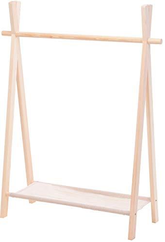 Kinder Garderobe Kleiderstange Kleiderständer Garderobenständer Kinderzimmer 100x80x30cm N070