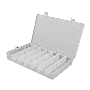Schmuck Perle Veranstalter Storage Box Container Gehäusefarbe: Transparent. Material: Haltbare Hartplastik. Gesamtgröße: ca. 35 * 22 * 4,8 cm. Jede Gittergröße: 5.2 * 4,8 cm. 28 Raster klar Storage Box Organisator, einfach und praktisch. Perfekt für ...