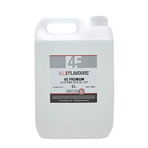 Glicerina vegetal USP grado farmacéutico All4flavours 5 litros para cigarro electrónico …