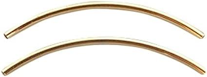 Farbe:Ros/égold 2x50 mm Schmuckverbinder Sadingo DQ Metallr/öhrchen Vergoldet BZW versilbert 1 St/ück DIY Schmuck wie Armb/änder Tube