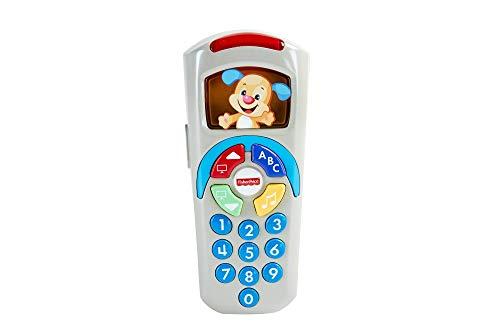 Fisher Price Mando a distancia de perrito, portugués, juguetes bebe 6 meses (Mattel DLD36)