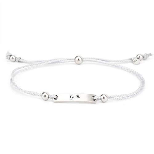 Armband mit Gravur aus Stoff mit Metallplatte für Damen und Herren längenverstellbar der Marke COWstyle | personalisiertes Namensarmband