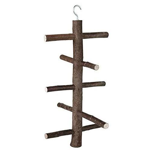 EQT-TEC Vogel Stange Sitzstange Klettergerüst aus Holz für Vögel 27 cm Vogelspielzeug