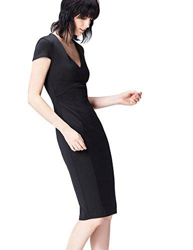 find. 13645 vestito da sera donna, Nero (Black), 40 (Taglia Produttore: X-Small)