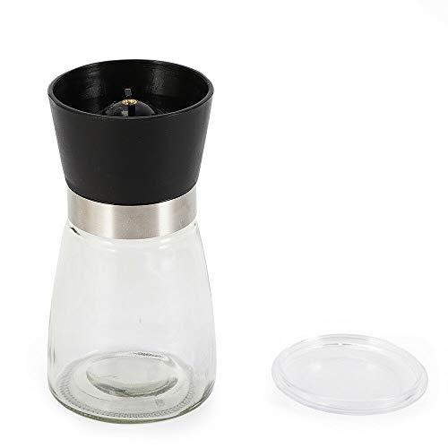 Juego de 6 molinillos de sal y pimienta (mecanismo de cristal, 180 ml, mecanismo de cerámica)
