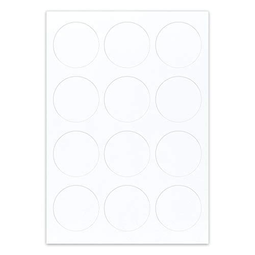 """paper2eat Frosting Sheets Premium (pre-cut Icing Sheets) A4 White Edible Printer Paper - 288 count (2.5"""" Circles)"""