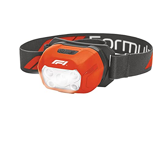 KEINEMARKE 10821 Linterna Frontal LED COB 400 lúmenes, Impermeable, Recargable con USB, para Coche, Taller, Camping, Rojo y Negro