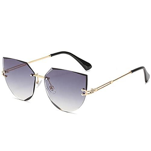 Gafas Sol De Hombre Mujer Polarizadas Sunglasses Gafas De Sol De Ojo De Gato Sin Montura para Mujer Diseño De Marca De Lujo Gafas