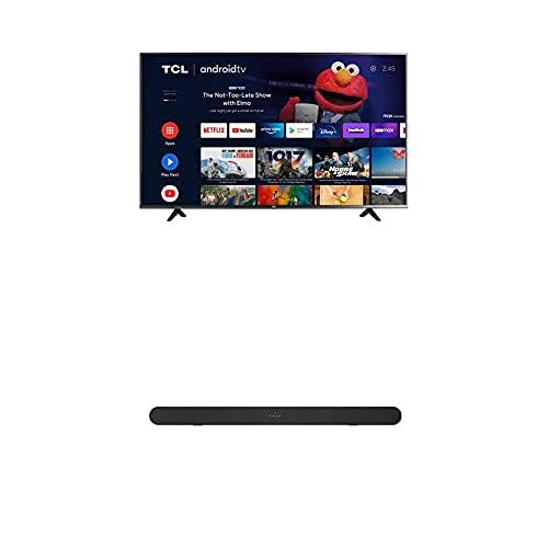 TCL 50-inch Class 4-Series 4K UHD HDR Smart Android TV - 50S434, 2021 Model + TCL Alto 6 2.0 Channel Home Theater Sound Bar with Bluetooth – TS6100, 120W, 31.5-inch, Black (TS6100-NA)