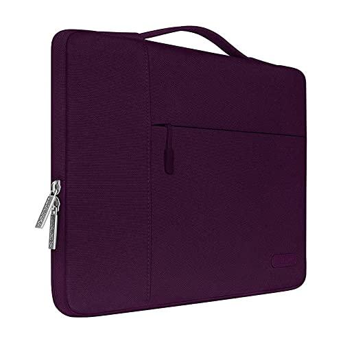 MOSISO Funda Blanda Compatible con MacBook Air 13 A2337 A2179 A1932/ MacBook Pro 13 A2338 A2251 A2289 A2159 A1989 A1706 A1708, Poliéster Maletín Protectora Multifuncional Bolso,Morado Magenta