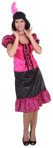 Orlob Faschingskostüm Damen Saloon Lady pink-schwarz Gr. 42