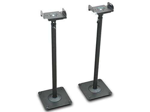 DRALL INSTRUMENTS Zwei Schwarze Lautsprecher Stative Audio Monitore Satelliten Ständer höhenverstellbar mit Kabelkanal Modell: LS-1B