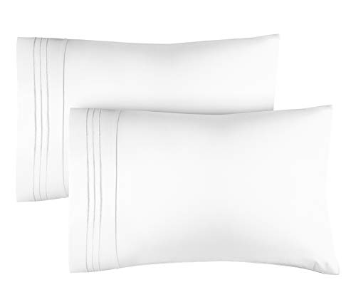 CGK Unlimited King Size Pillow Cases Set of 2 – Soft, Premium Quality Pillowcase Covers – Machine Washable Protectors – 20x40, 20x36 & 20x48 Pillows for Sleeping 2 PC - King Size Pillow Cover Bedding