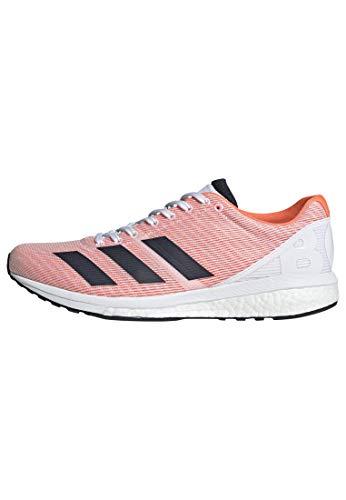 adidas Men's Adizero Boston 8 Running Shoe, Black/White/Grey, 5 UK