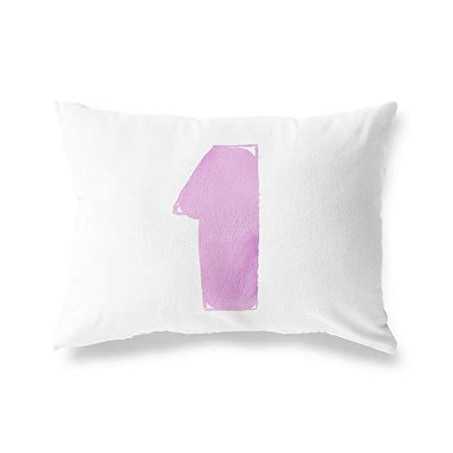 BonaMaison Funda para cojín de algodón y Fundas de Almohada, Funda para sofá, casa, salón, Dormitorio, decoración Interior y Exterior, 35 x 50 cm, diseñada y Fabricada en Turquía