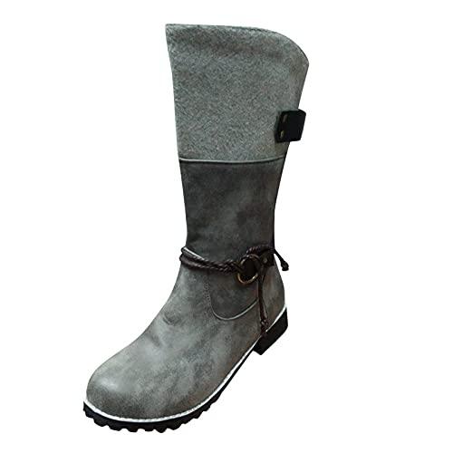 Pitashe Stiefeletten Damen Absatz Gummistiefel Damen Mode Punkte Muster Regenstiefel Wasserdicht Outdoor Langschaft Stiefel mit Ferse Regenschuhe Casual Naturkautschuk Wellington Boots Stiefel