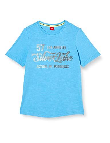 s.Oliver Junior Jungen 402.10.004.12.130.2037873_Tshirt T-Shirt, Blau (6431 Blue), S/REG