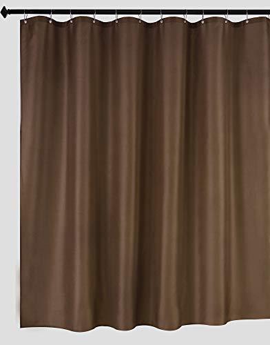 biscaynebay Stoff Duschvorhang Liner, wasserdicht Badezimmer Set, Weiß, 72von 182,9cm, inkl. 12Haken 72