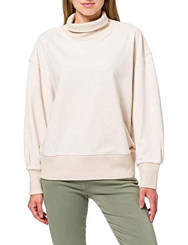 Scotch & Soda Maison Damen Baumwollmischung im Relaxed Fit Sweatshirt, Off White Melange 1331, M