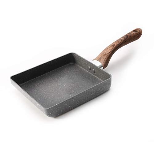 Zaigon All in 1 Pfanne - Induktion + Spülmaschine geeignet - Kleine Pfanne - Omelett Pfanne - Tamagoyaki Pfanne – Tamago Pfanne – viereckige Pfanne – Sushi Pfanne-eckige Pfanne