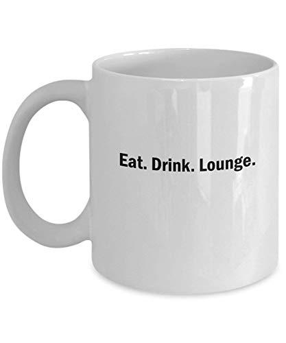 Tazas De Café Coma. Bebida. Salón Regalos para el día de la madre Tazas divertidas y novedosas de regalo de 11 onzas