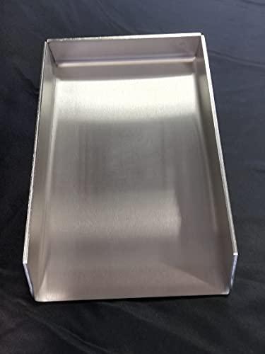 410 x 230 mm Edelstahl V2A Plancha Grillplatte Grillpfanne I Massiv 4,0mm, 3,9 KG I 41x23 cm I Gasgrill, Holzkohlegrill und Backofen I Burger- Steakplatte