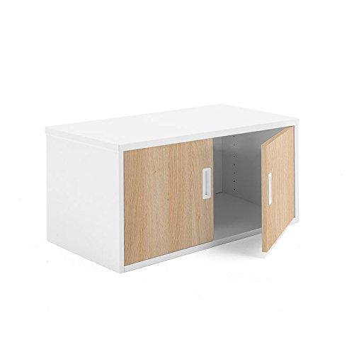 AJ Producter AB 1613068 Modulus kantoorkast met rijke deuren, 400 mm x 800 mm x 400 mm, wit