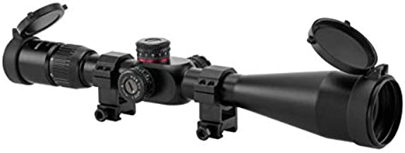 Monstrum G2 6-24x50 First Focal Plane FFP Rifle Scope with Illuminated Rangefinder Reticle and Parallax Adjustment | Black