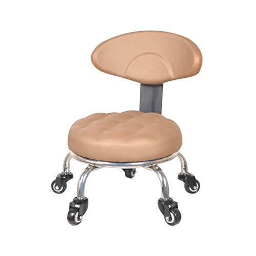 QFdd Tabouret Bas pour Enfants Home Bain de Pieds pour Adultes Banc de Massage avec Roues Ergonomique Petite Chaise Canapé Tapissé Siège 33 * 23cm