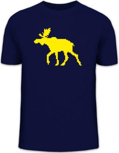 Shirtstreet24, Norweger Elch, Strickmuster Skandinavien Schweden Herren T-Shirt Fun Shirt Funshirt, Größe: XXL,dunkelblau