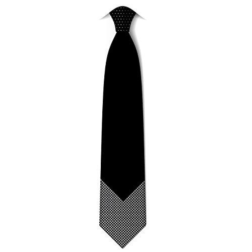 100% Pure Soie Cravate pour Homme 2 Tissus de Fait Main pour Anniversaire de Mariage Cérémonie