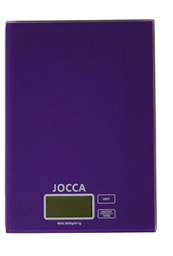 Jocca 7154M Báscula de cocina, color morado
