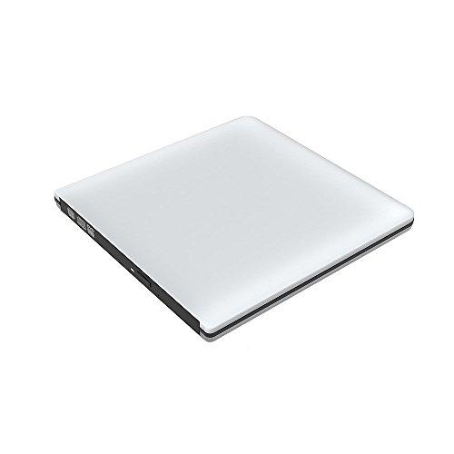 外付けドライブ改良版 Bengoo USB3.0 外付けスロット ポータブルドライブ DVDドライブ DVD VCD CD RWドライブ 超スリム SuperDrive Windows/Linux/Mac OS対応 超薄い(シルバー)