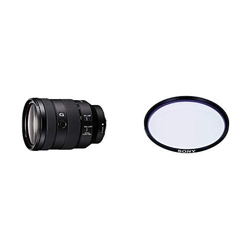Sony SEL-24105G G Standard Zoom-Objektiv (24-105 mm, F4, OSS, Vollformat) schwarz + Sony VF77MPAM.AE Carl Zeiss T* Schutzfilter (77mm)
