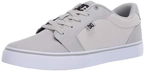 DC Men's Anvil Tx Skate Shoe, Grey/Black/Grey, 11 D M US