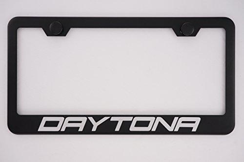 Fit Dodge Daytona Matt Black Liecnese Plate Frame with Caps