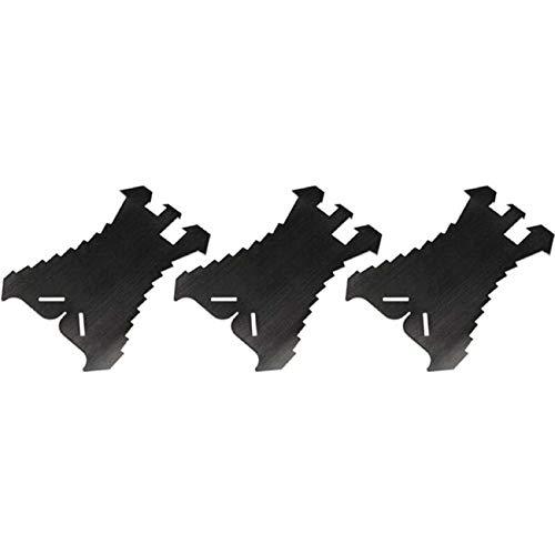 3 Stück SANPRO Anreißschablone/Schablone zum Anreissen von Blech + Schiefer