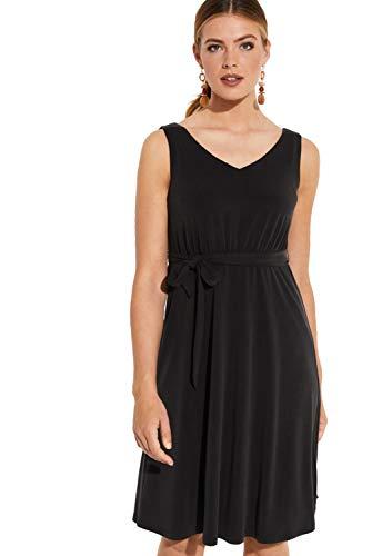 comma Damen 81.907.82.5036 Kleid, Schwarz (Black 9999), (Herstellergröße: 44)