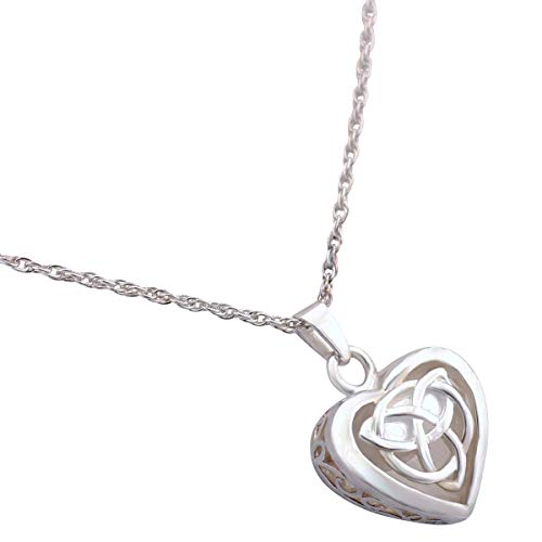 Silverlight Urns Celtic Heart Cremation Jewelry Pendant