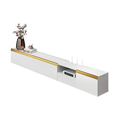 DAPAO Mueble TV Salón Moderno, Estante Montado La Pared, Mueble para TV Flotante con Cajones, Uso Razonable del Espacio La Pared, Piso De Ahorro, Conveniente para La Limpieza