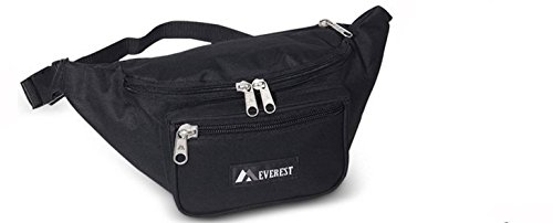 Everest 044XLD Extra Large Fanny Pack (Price/Each), Fanny Pack - Black